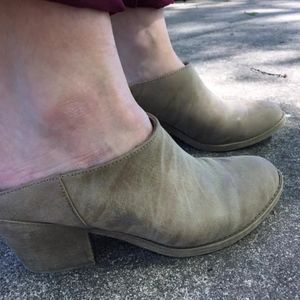 Rocket Dog Shoes - Nude Wedge Heels in suede leather women's 8.5